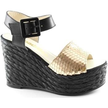 Chaussures Femme Sandales et Nu-pieds Espadrilles VISAGE sandales compensées en or noir pour les femmes, corde bo Oro