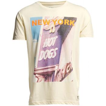 Vêtements Homme T-shirts manches courtes Jack & Jones T-Shirt Homme BRIGHT Cloud Cream 1