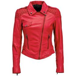 Vêtements Femme Vestes en cuir / synthétiques Guess Blouson en Cuir  Sophia Fushia 13