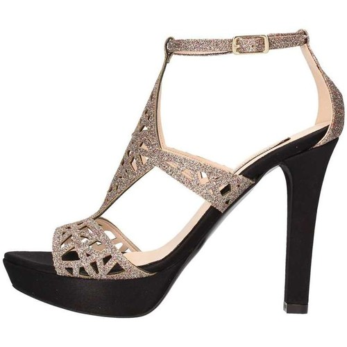 Pedro Rodriguez 3071 Sandale élégante Femme Noir et Multicolor Noir et Multicolor - Chaussures Sandale Femme
