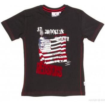 Vêtements Garçon T-shirts manches courtes Redskins T-SHIRT  BARBLA NOIR