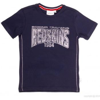 Vêtements Garçon T-shirts manches courtes Redskins T-Shirt  BOSCAL Bleu Marine Bleu