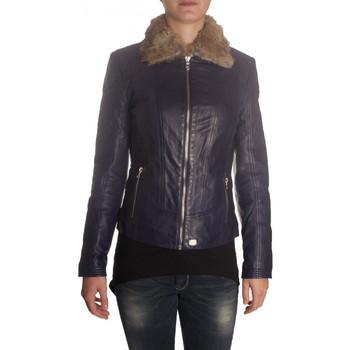 Vêtements Femme Blousons Redskins Blouson de cuir  ANOFIE Violet Noir