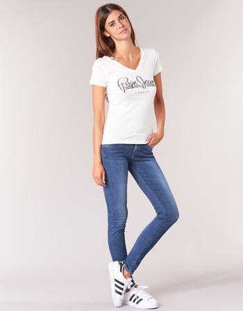 Bleu Z63 Femme Soho Jeans Skinny Pepe Vêtements Medium PknN0O8Xw