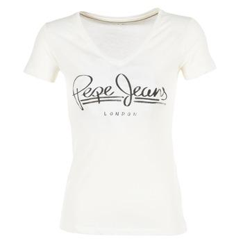 Vêtements Femme T-shirts manches courtes Pepe jeans BRENDA Blanc
