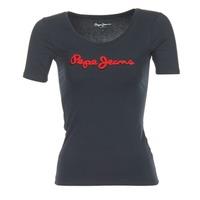 Vêtements Femme T-shirts manches courtes Pepe jeans MARIA Noir