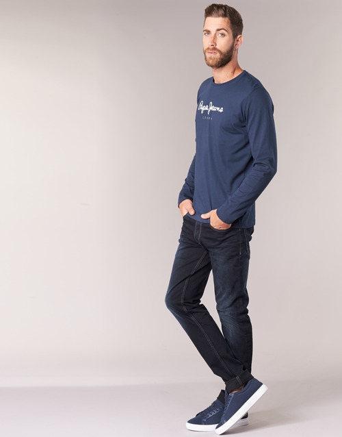 Marine Long Pepe Longues T Eggo shirts Manches Jeans Homme N0nOkXwP8Z
