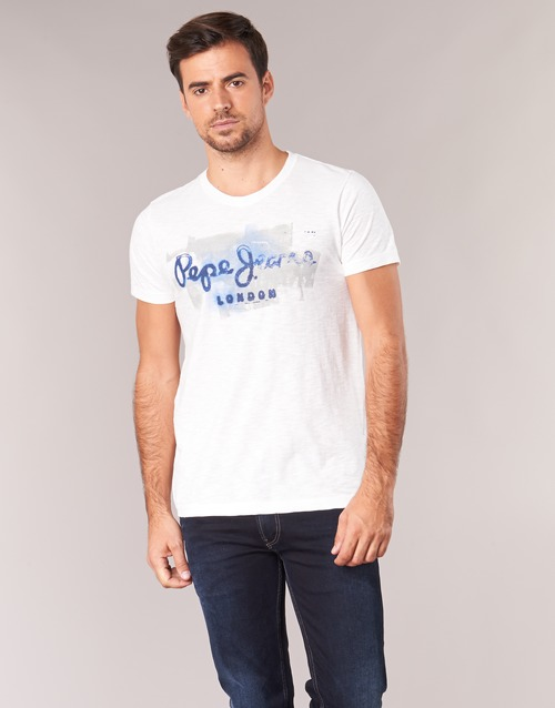 Pepe Courtes Manches T shirts Golders Homme Blanc Jeans TF1J3uK5lc