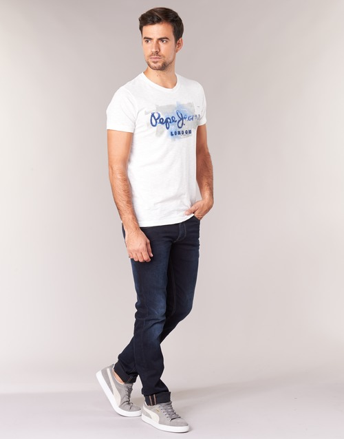 Pepe Manches Blanc Golders Homme T shirts Courtes Jeans qVGLMSzUp
