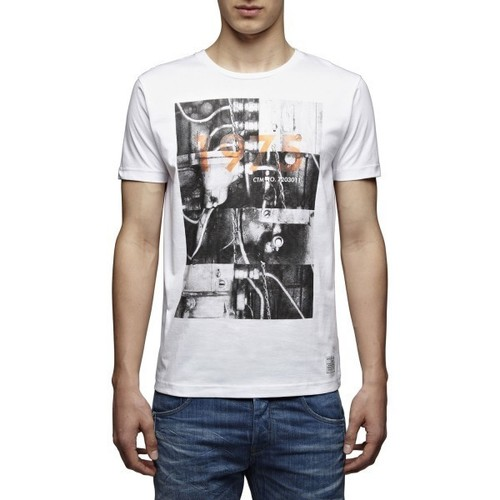 Vêtements Homme T-shirts manches courtes Jack & Jones T-SHIRT  MACHINE White