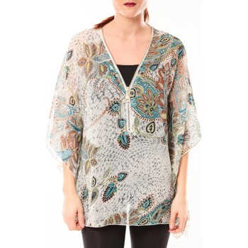 Vêtements Femme Tops / Blouses De Fil En Aiguille Chemisier Love Look B42 Gris/Multicolor Multicolor