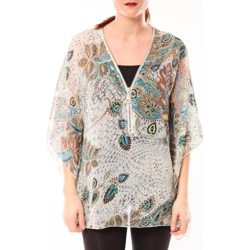 Vêtements Femme Tops / Blouses De Fil En Aiguille Chemisier Love Look B42 Gris/Multicolor Multicolor
