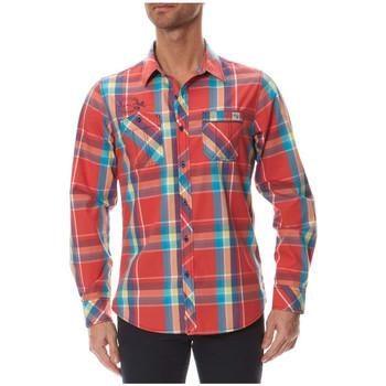 Vêtements Homme Chemises manches longues Kaporal Chemise Homme MALAR Carreaux Bleu/rouge STD