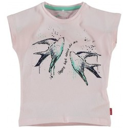 Vêtements Fille T-shirts manches courtes Name It Kids T SHIRT GUMINA MINI SS TOP 214 Noir