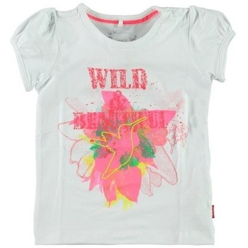 Vêtements Fille T-shirts manches courtes Name It Kids T-shirt Fille Ibalia Bright White Blanc Noir