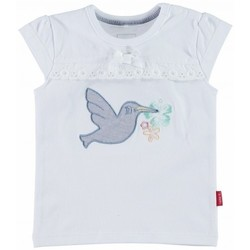 Vêtements Fille T-shirts & Polos Name It Kids T-shirt  Ingrid 13096382 Bright White Noir