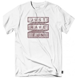 Vêtements Homme T-shirts manches courtes Just Have Fun T-shirt  Scroll Call Tee Blanc Blanc