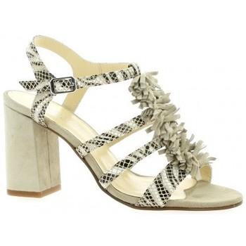 Chaussures Femme Sandales et Nu-pieds Elizabeth Stuart Nu pieds cuir python  sable Sable