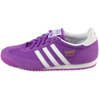 Chaussures Enfant Baskets basses adidas Originals Dragon J Blanc-Violet