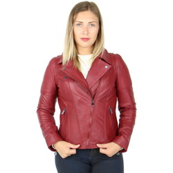 Vêtements Homme Vestes en cuir / synthétiques Giorgio Cuirs Blouson style perfecto cuir Giorgio ref_40744 rouge Rouge