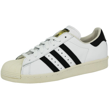 Chaussures Homme Baskets basses adidas Originals Baskets basses cuir SUPERSTAR 80S blanc