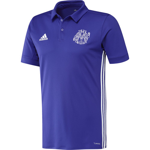 Vêtements Homme Polos manches courtes adidas Performance Maillot Olympique de Marseille Third Energy Ink / White