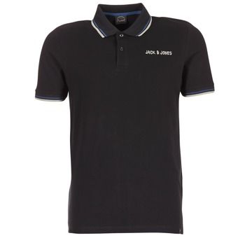 Vêtements Homme Polos manches courtes Jack & Jones WAZ ORIGINALS Noir