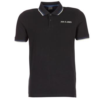 Vêtements Homme Polos manches courtes Jack & Jones WAZ ORIGINALS Noir