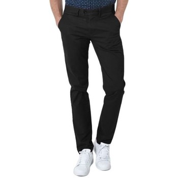 Vêtements Homme Chinos / Carrots Kebello Pantalon Chino noir