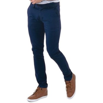 Vêtements Homme Chinos / Carrots Kebello Pantalon Chino bleu