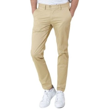 Vêtements Homme Chinos / Carrots Kebello Pantalon Chino beige