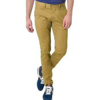 Vêtements Homme Chinos / Carrots Kebello Pantalon Chino Camel beige