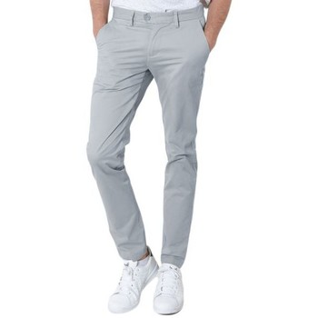 Vêtements Homme Chinos / Carrots Kebello Pantalon Chino gris