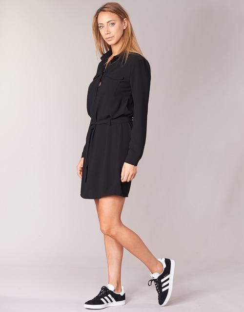 Courtes Femme Honire Casual Attitude Robes Noir odxBeC