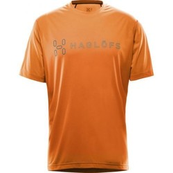 Vêtements Homme T-shirts manches courtes Haglöfs T-shirt Haglofs Ridge Ii Tee Men Tangerine Logo Orange