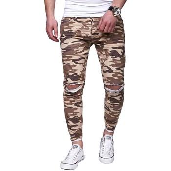 Vêtements Homme Jeans droit Kc 1981 Jeans camo skinny déchiré Jeans 3215 beige Beige