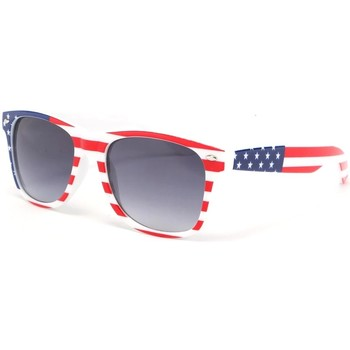 Montres & Bijoux Homme Lunettes de soleil Eye Wear Lunettes de soleil USA drapeau americain Bleu