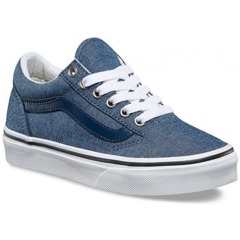 Chaussures Garçon Baskets basses Vans Chaussures  Y Old Skool C L - Chambray / Blue Gris