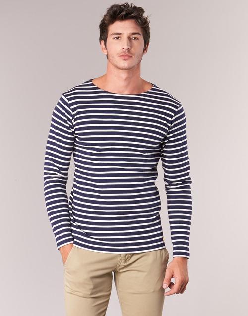 Vêtements Homme T-shirts manches longues Armor Lux GELGA Marine / Blanc