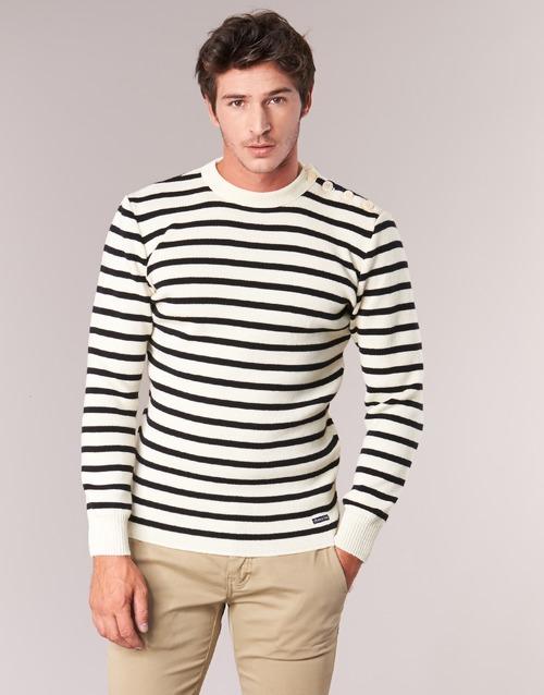 Vêtements Homme Pulls Armor Lux FOUESNANT Blanc / Marine