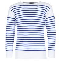 Vêtements Homme T-shirts manches longues Armor Lux DISJON Blanc / Bleu