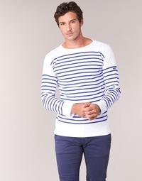 Vêtements Homme T-shirts manches longues Armor Lux AMIRAL Blanc / Bleu