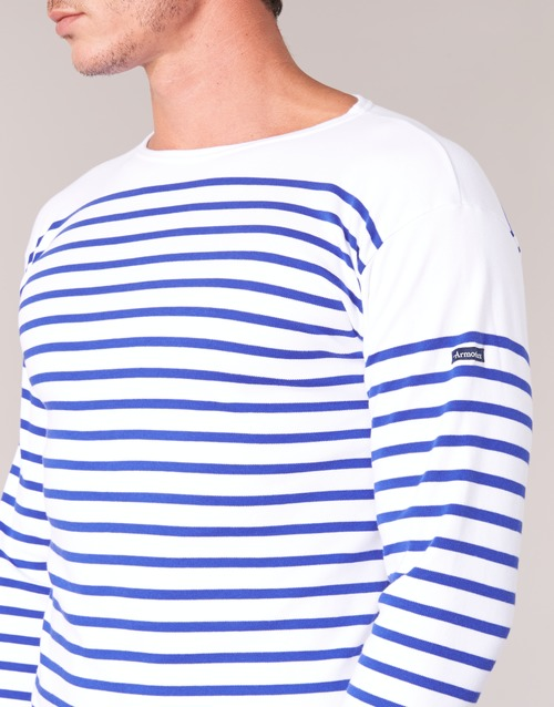 T Manches BlancBleu Lux Longues Homme shirts Amiral Armor MUSzVp