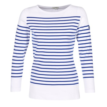 Vêtements Femme T-shirts manches longues Armor Lux AMIRAL Blanc / Bleu