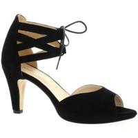Chaussures Femme Sandales et Nu-pieds Costa Nu pieds cuir velours Noir