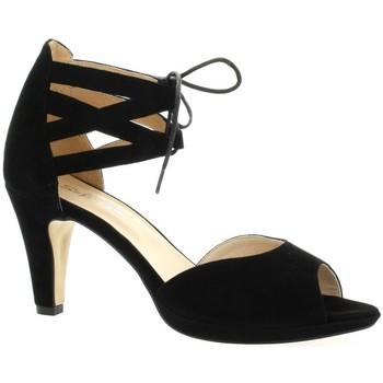 Costa Nu pieds cuir velours Noir - Chaussures Sandale Femme