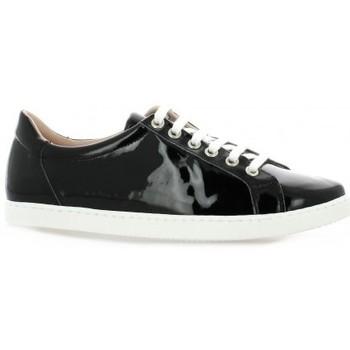 Chaussures Femme Baskets basses Exit Baskets cuir vernis Noir
