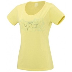 Vêtements Femme T-shirts manches courtes Millet T-shirt  Ld Borah Peak Lime Light Jaune