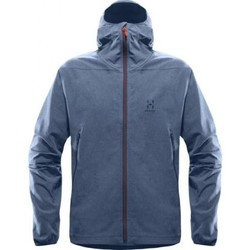 Vêtements Homme Coupes vent Haglöfs Veste Softshell Haglofs Boa Hood Men Blue Ink Bleu