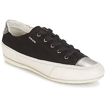 Chaussures Femme Baskets basses Geox D N.MOENA D - SCAM.STA+VIT.CER Noir